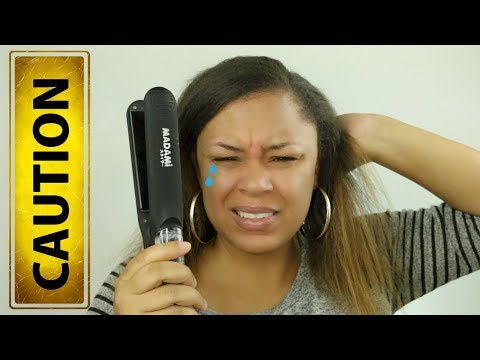 Madami Argan Oil Infused Flat Iron Review | Abby Red