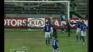 Real Oviedo - Barcelona 1st half 07.01.2001 highlights, goals, tricks {by Vladimir G}