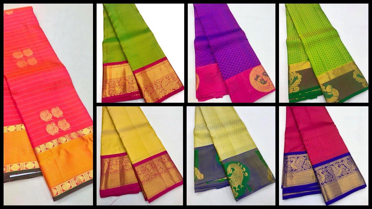 Latest Designer Kanchipuram Soft Silk Saree Collections From Weavers!!!