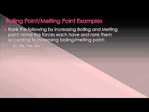 Intermolecular Forces Effects on Melting and Boiling Points