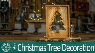 Make a Christmas Tree Decoration out of pallet wood