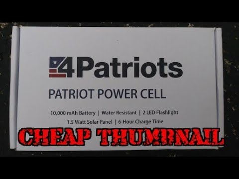 4 Patriots 4Patriots Trying a Solar Power Cell. My experience /review