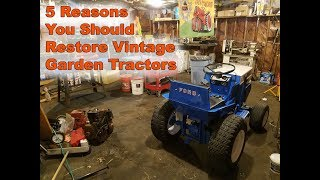 5 Reasons Why to Restore a Vintage Garden Tractor