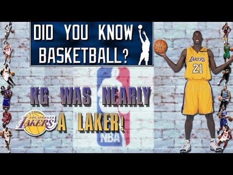 Kevin Garnett was almost a Laker - Did you know basketball?
