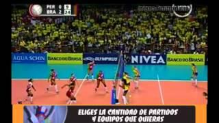 voley Peru vs Brasil