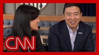 Evelyn Yang joins 2020 hopeful husband Andrew for their first joint interview