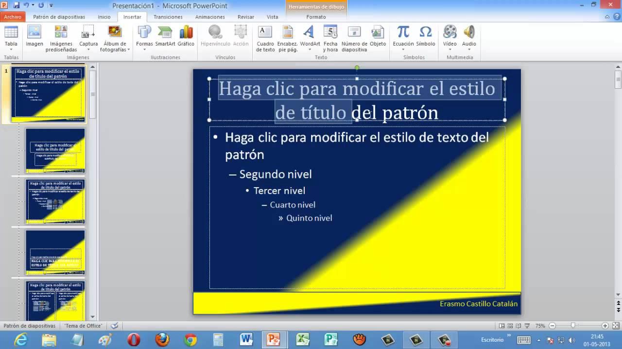 crear patron de diapositivas