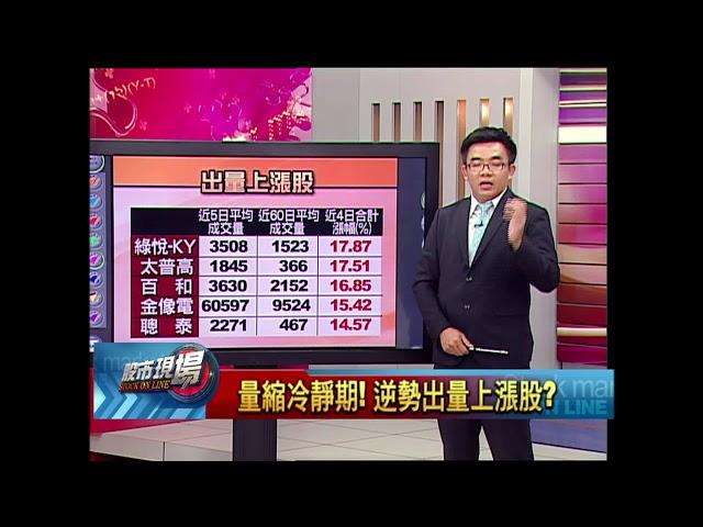 股市現場*鄭明娟20180823-4【量縮免驚 出量股衝出頭 小型股領先優勢! 】(呂漢威)