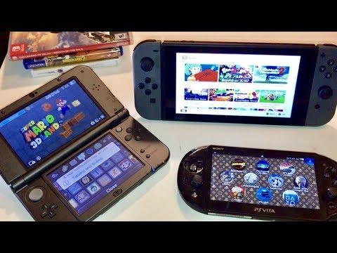 Nintendo Switch vs New 3DS XL vs PS Vita Slim - ULTIMATE COMPARISON!! Size, Battery, Screens