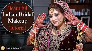 Indian Bridal Makeup Tutorial   Best Indian Bridal Makeup Videos   Tutorials   Krushhh by Konica