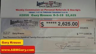American Bill Money Check August 3rd 2018 - $2,625, American Bill Money Pays