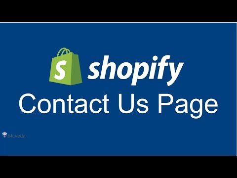 """How to Add """"Contact Us"""" Page on your Shopify Store 