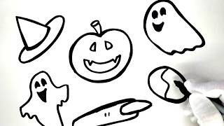Painting Halloween Scary Things Painting Pages, Kids Learn to Paint and Color with Painting