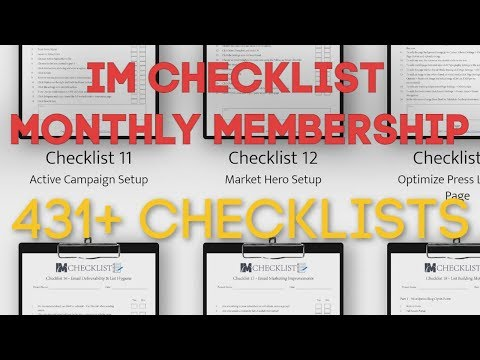 IM Checklist Monthly Membership Review - Access Entire Current & Future IM Checklist Collection - YouTube