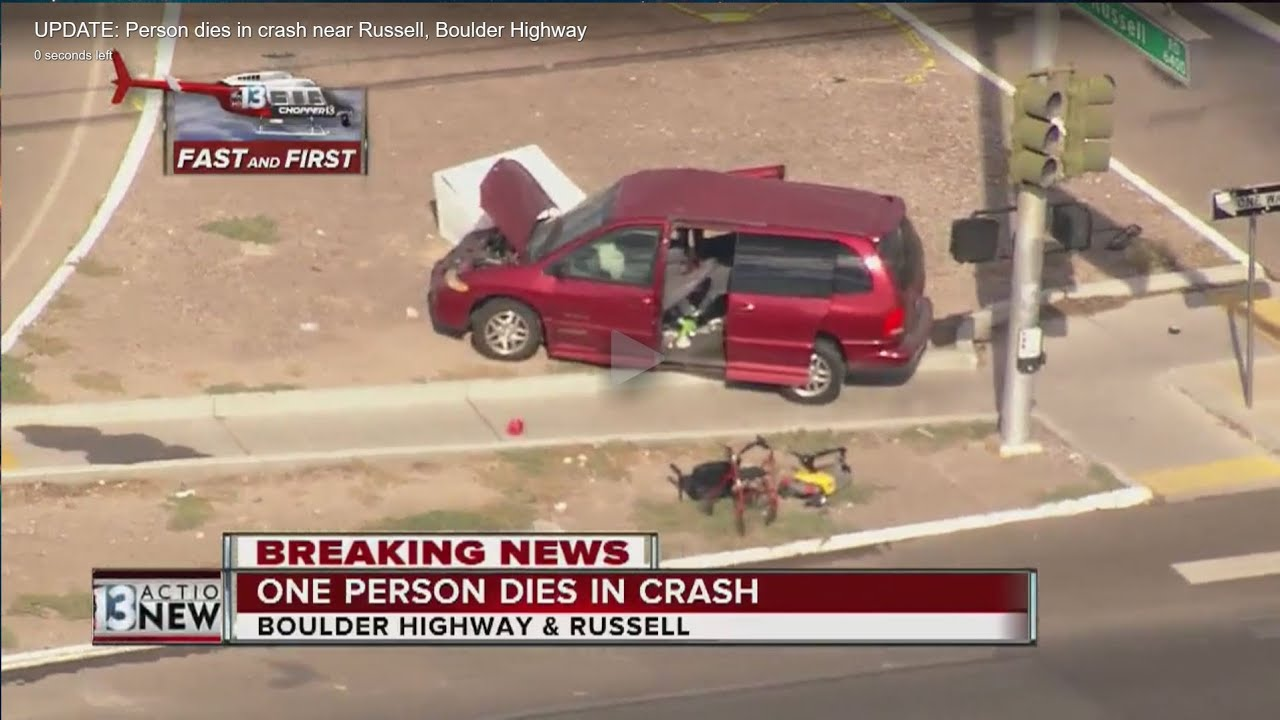 Fatal Car Accident Boulder Hwy  and Russell Raw Footage 9/1/16