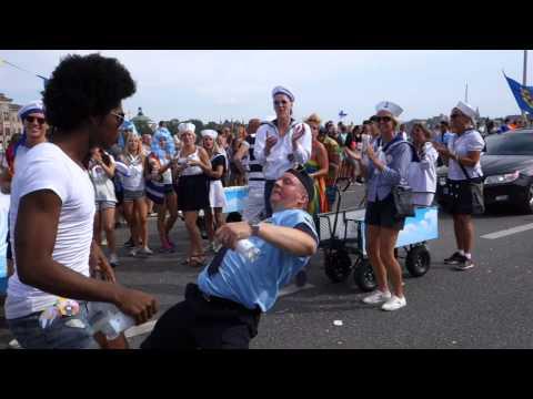 SWEDISH POLICEMAN DANCING AT GAY PRIDE