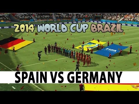 2014 FIFA World Cup Brazil - Gameplay - Spain vs Germany