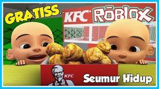 UPIN IKUTAN RACE IN KFC, IPIN HAPPY-ROBLOX UPIN IPIN
