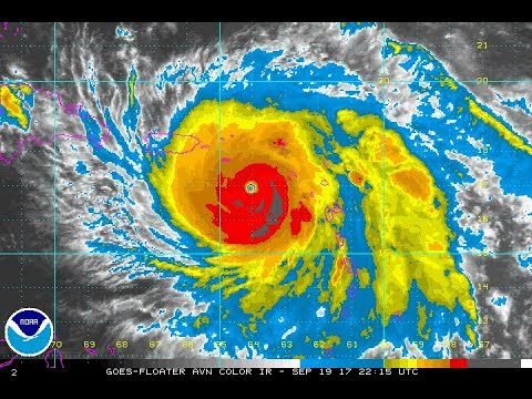 HURRICANE MARIA CATEGORY 5 175 MPH CLOSING IN ON PUERTO RICO & THE VIRGIN ISLANDS