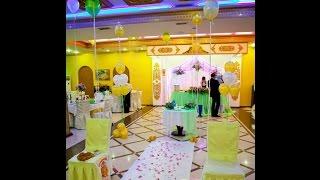 украшение зала шарами на свадьбу недорого Алматы