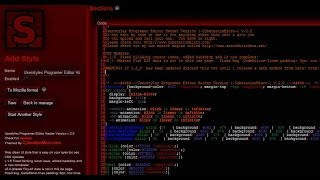 How To Install Userstyles Programer Editor Hacker Version  (-CyberationMicro-) v2.0
