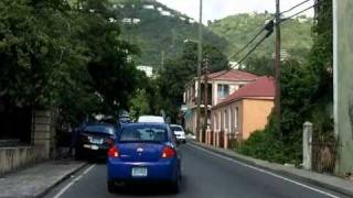 Driving in St Thomas to Megens bay beach part 1 of 3