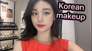 تجربتي للميك اب الكوري مع أحدى شركات عالم التجميل الكورية  Visit Korea makeup shop