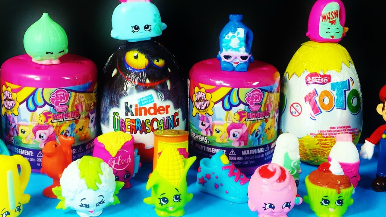 Fash ems MLP Squishy Surprise my little Pony Friendship is Magic Kinder Surprise Egg ToTo ...