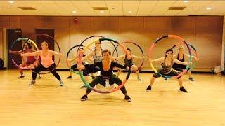 """DARK HORSE"" Katy Perry ft Juicy J - Dance Fitness w/ Weighted Hula Hoops Valeo Club Video"