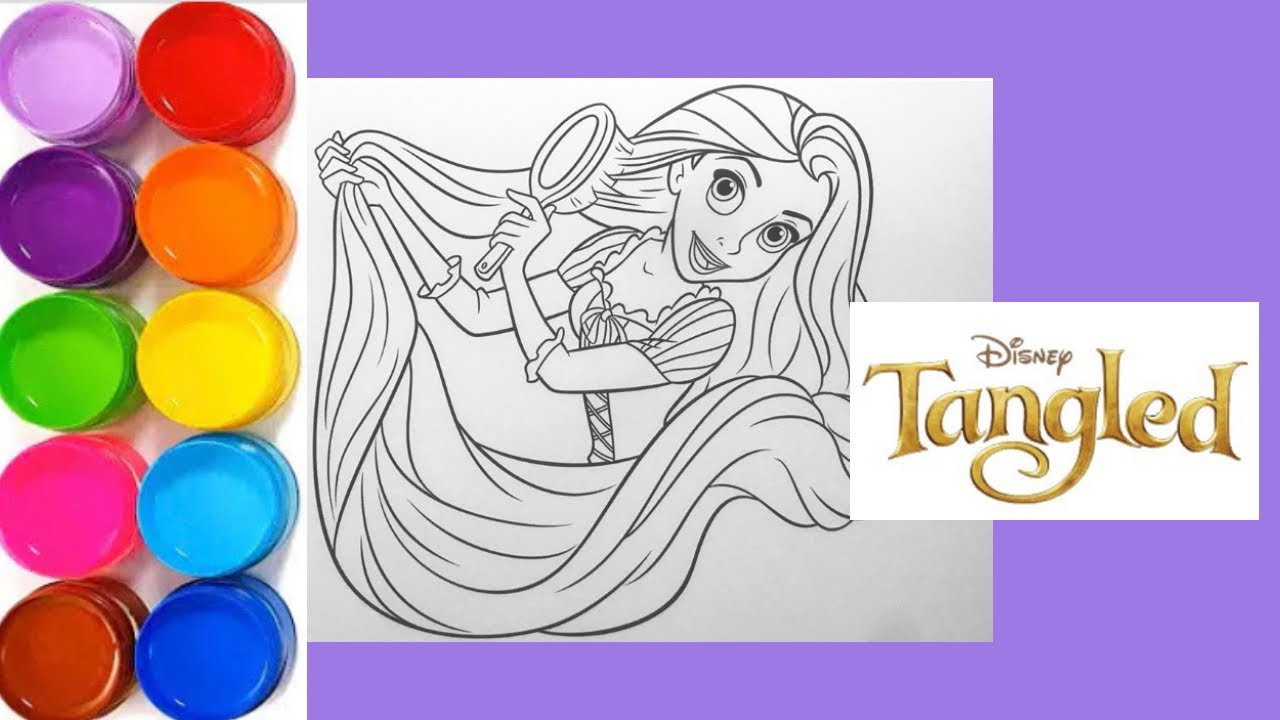 Disney Princess Colouring Book Pages For Kids Rapunzel Youtube