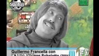Gustavo Barros Schelotto de Racing Club con Francella 2001 FUTBOL RETRO