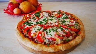 Пицца Без Дрожжей за 30 минут / С  ВЫПЕКАНИЕМ / Быстро , просто и вкусно !!!