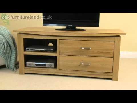 Tokyo Solid Oak Widescreen TV/DVD Cabinet From Oak Furniture Land