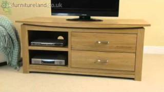 Tokyo Solid Oak Widescreen Tv/dvd Cabinet From Oak Furniture Land