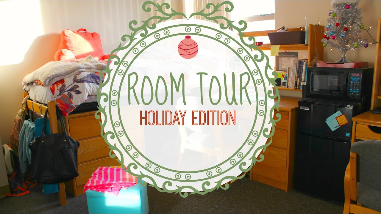 2014 room tour christmas decorations dorm room edition youtube - Christmas Dorm Decorations