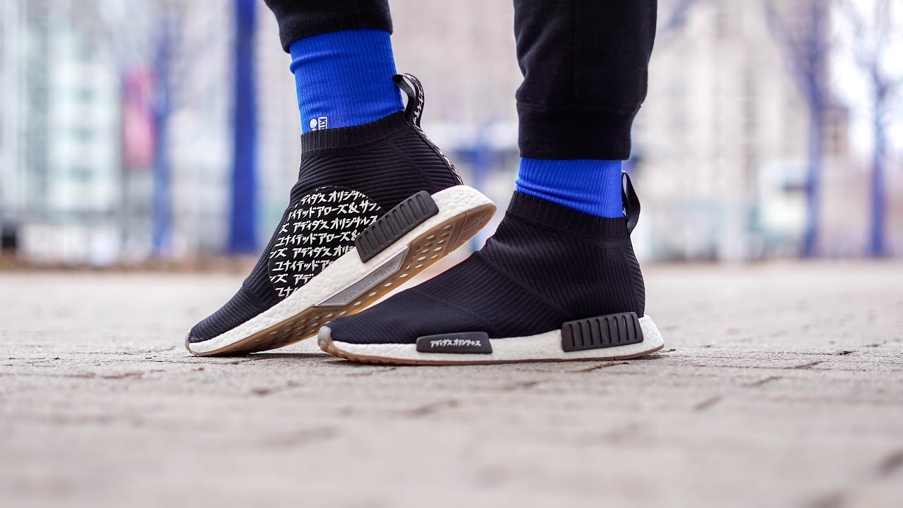 MOST CREATIVE BOOST COLLAB (UNITED ARROWS   SONS X MIKITYPE NMD CITY SOCK  ON FEET REVIEW) 3342fb490