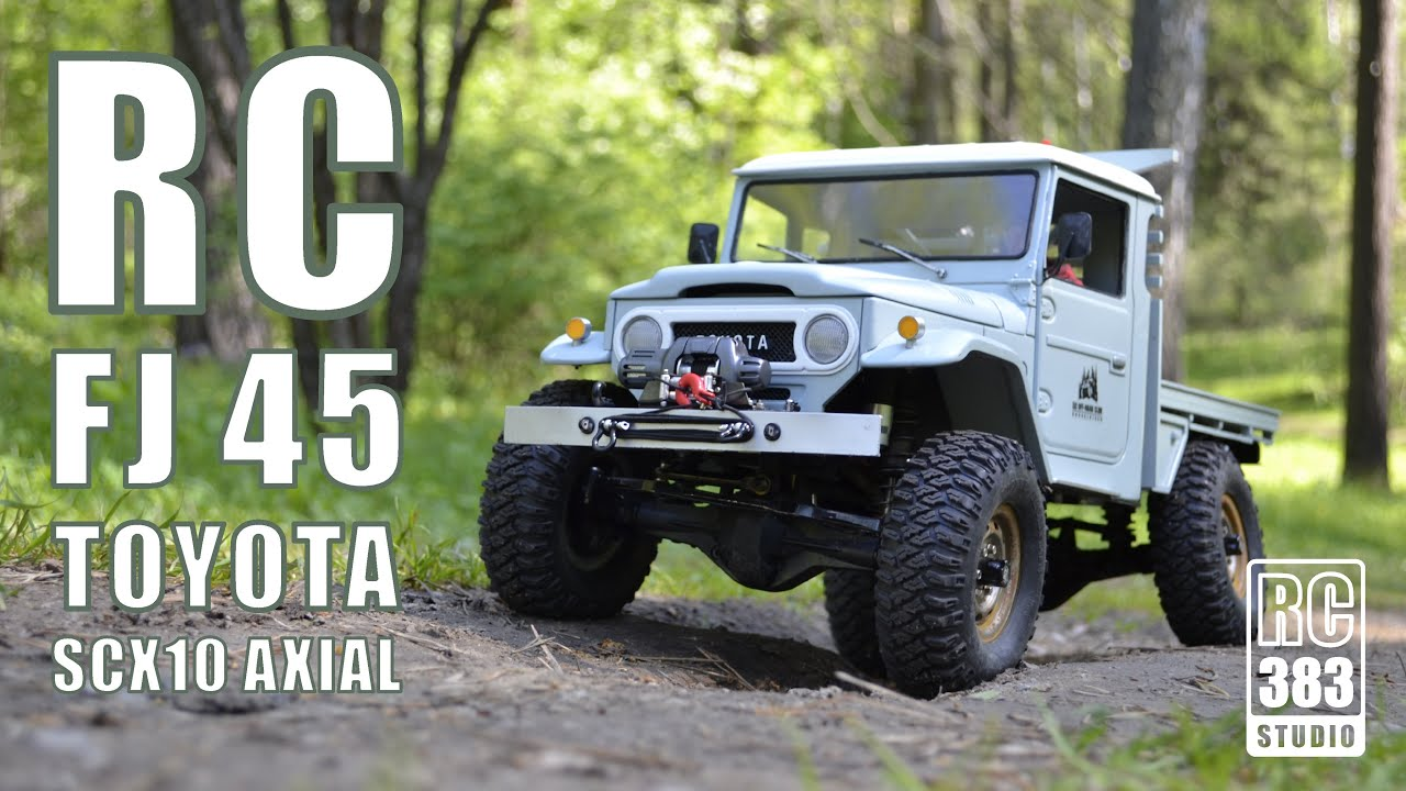Rc Offroad Extreme Axial Scx10 Toyota Fj45 River Youtube