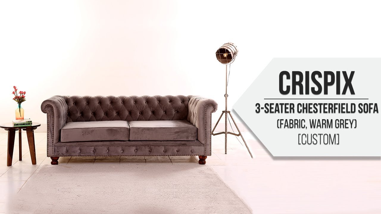 Chesterfield Sofa Crispix 3 Seater Chesterfield Sofa Fabric