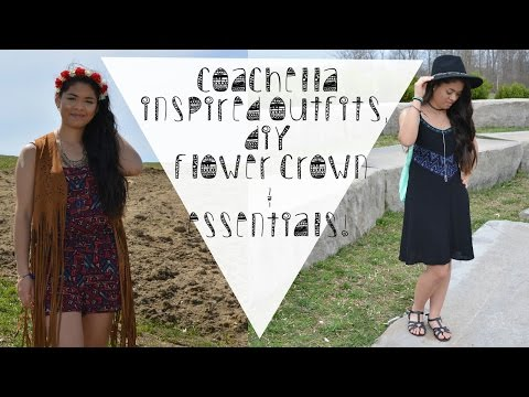 ❀ Coachella Inspired Outfits, DIY Flower Crown & Festival Essentials ☯