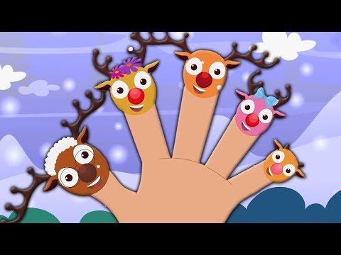 Rentier Finger Familie | Weihnachtslied | Reim für Kinder | Merry Xmas | Reindeer Finger Family