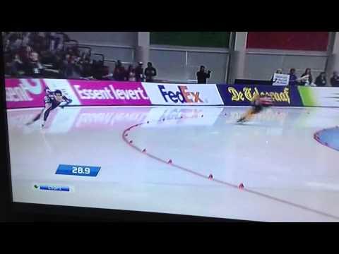 Sang-Hwa Lee 500 meters world record-36.57 in Salt lake City