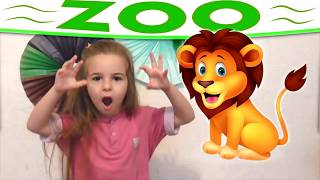 Let's Go To The Zoo Learn The animals with Miss Lana
