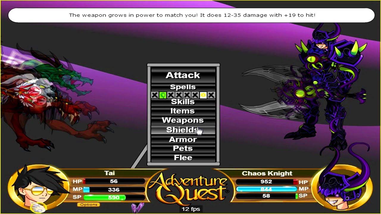 adventure quest tai level 150 vs chaos knight pre. Black Bedroom Furniture Sets. Home Design Ideas