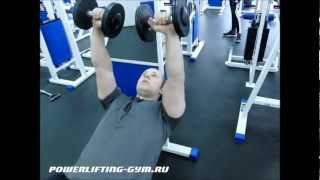 Необычные упражнения на трицепс с гантелями и штангой(В этом видео-уроке мы покажем три необычных упражнения на трицепс, которые мы подсмотрели у наших американс..., 2013-01-27T11:53:08.000Z)