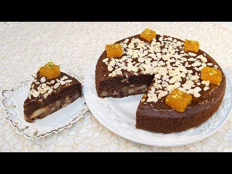 كيكة-الشوكولاطة-بالإجاص-و-الزنجبيل-روعة-و-نعومة-في-المذاق---gâteau-choco-poires-au-gingembre