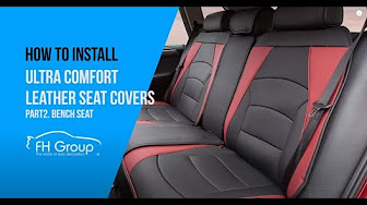 PU205013 Ultra Comfort Leatherette Bench Seat Cushions Installation