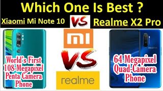 Xiaomi Mi Note 10 Vs Realme X2 Pro || Full Comparison || By Mobile Comparison Master