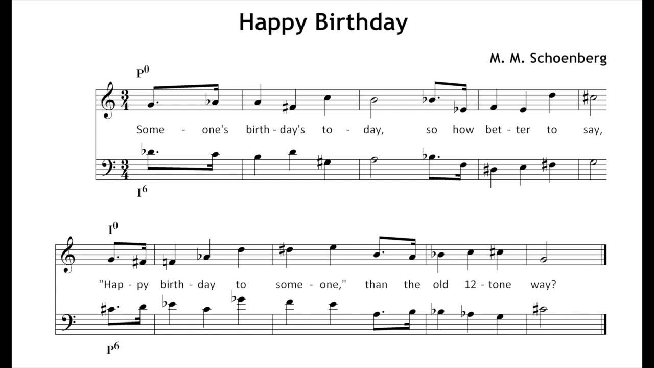 Generic 12 Tone Birthday Greetings Youtube