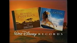 RETURN TO PRIDE ROCK SOUNDTRACK PROMO [VHS] 1998