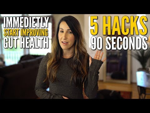 5 Gut Health HACKS in 90 SECONDS to IMMEDIATELY Start Healing